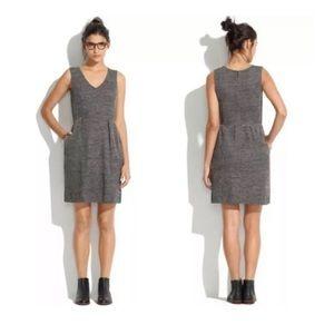 Madewell Terrace Marled Twill Dress Medium 08255